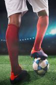 Soccer player is ready to kick off — Foto de Stock