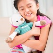 Girl with toy — Stock Photo #59098611