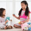 Girls with toys — Stock Photo #59099115
