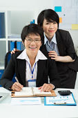Amiable colleagues — Stock Photo