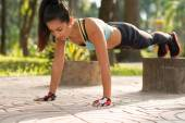Sport young woman — Stock Photo