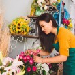 Working at flower shop — Stock Photo #59275291