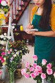 Flower seller — Stock Photo