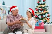 Swapping Christmas presents — Stock Photo