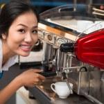 Using coffee machine — Stock Photo #59364043