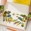 Multicolored hand prints — Stock Photo #59368207