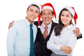 Hugging business team — Stock Photo