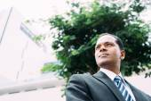 Serious Indian businessman — Stock Photo