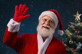 Smiling Santa Claus — Stock Photo