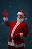 Santa Claus with big belly — Stock Photo