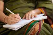 Writing   letter — Stock Photo