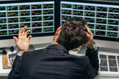 Frustrated stock trader — Stock Photo