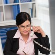 Business lady talking on the phone — Stock Photo #63670093