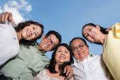 Embracing Vietnamese friends — Stock Photo