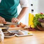 Постер, плакат: Cooking healthy meal