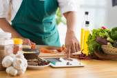 Technology and cooking concept — Stock Photo