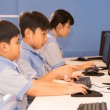 Children programming on the computers — Stock Photo #67315907