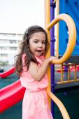 Little  girl at playground — Stock Photo