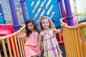 Little girls playing — Stock Photo