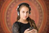 Genießen musik mädchen — Stockfoto