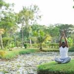 Man practicing yoga — Stock Photo #69308751