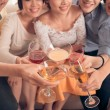 People clinking glasses with cocktail — Stock Photo #69309019