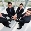 Business team stacking their hands — Stock Photo #69309497