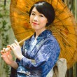 Japanese woman with umbrella — Stock Photo #69309901