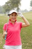 Asian golf player — ストック写真