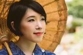 Beautiful Japanese woman — Stock Photo