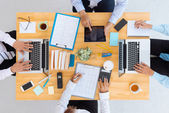 Business team working at table — Stock Photo