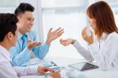 Talking business people — Stock Photo