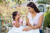 Talking mother and daughter — Stock Photo
