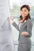 Manager conducting presentation — Stock Photo