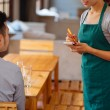 Waitress taking order — Stock Photo #72201903
