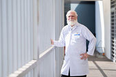 Confident bearded researcher — Stock Photo