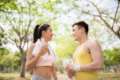 Happy sporty couple — Stock Photo