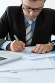 Manager making notes — Stock Photo