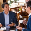 Vietnamese colleagues at business lunch — Stock Photo #73912207