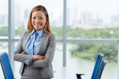 Business lady in office — Stock Photo