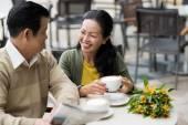 Dating senior couple — Stock Photo