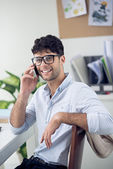 Young man calling on the phone — Stock Photo