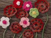 Crochet Flowers — Stock Photo