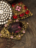 Vintage brooches — Stock Photo