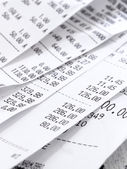 Cash Register Receipts — Stock Photo