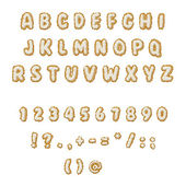 Christmas cookie font — Stock Photo