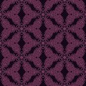Print Seamless Pattern. Mandala Flowers with purple background. — Stock Photo