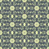 Drucken Sie nahtlose Muster. Blaue Mandala-Blüten mit hellem Hintergrund. — Stockfoto