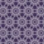 Beautiful vector Print Seamless Pattern. White Mandala Flowers with purple background. — Stock Vector #79594772