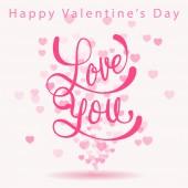 Felice giorno di san valentino biglietto d'auguri — Vettoriale Stock